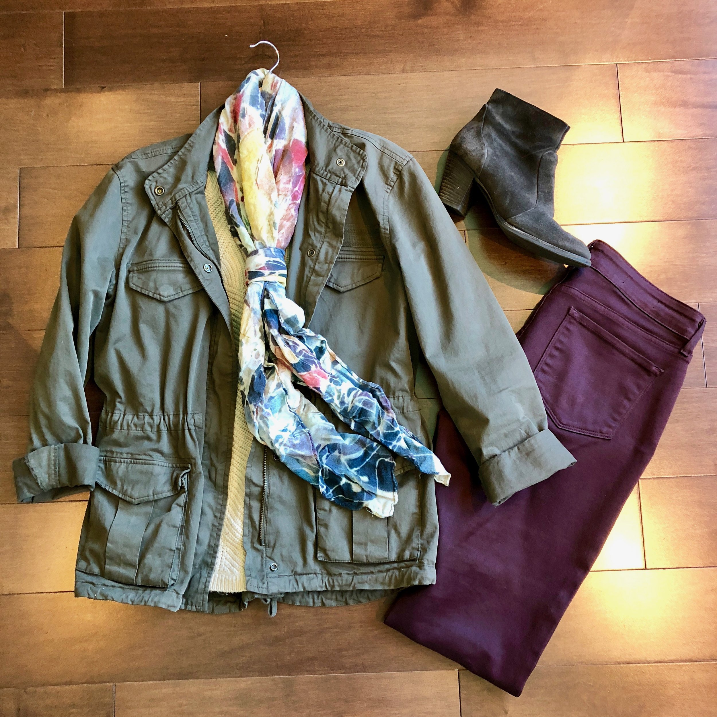 colored jeans and military jacket.jpg