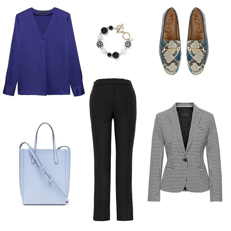 The Obsession: Printed Shoes and What to Wear with Them  blazer and pants.jpeg