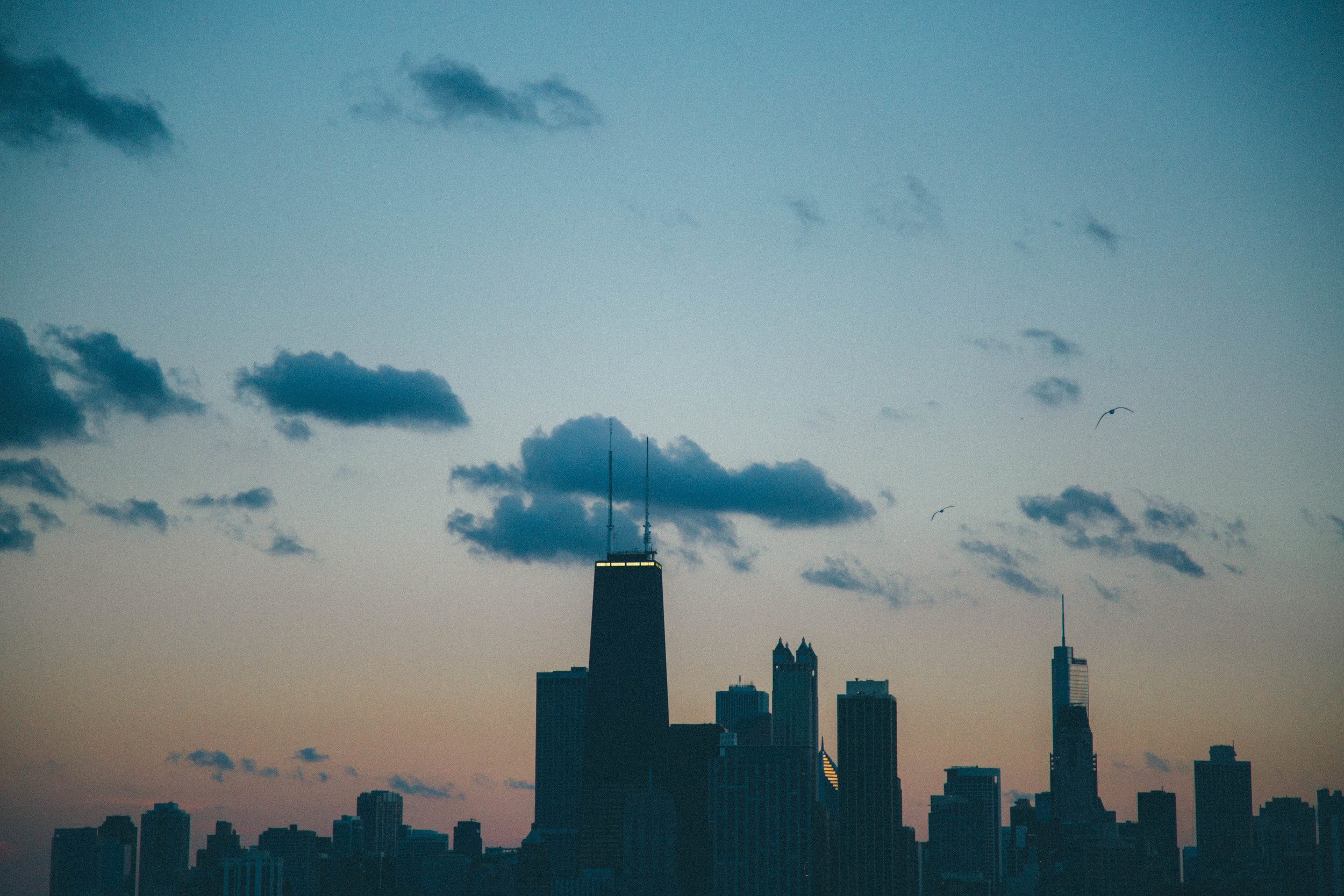 A Chicago sunset...
