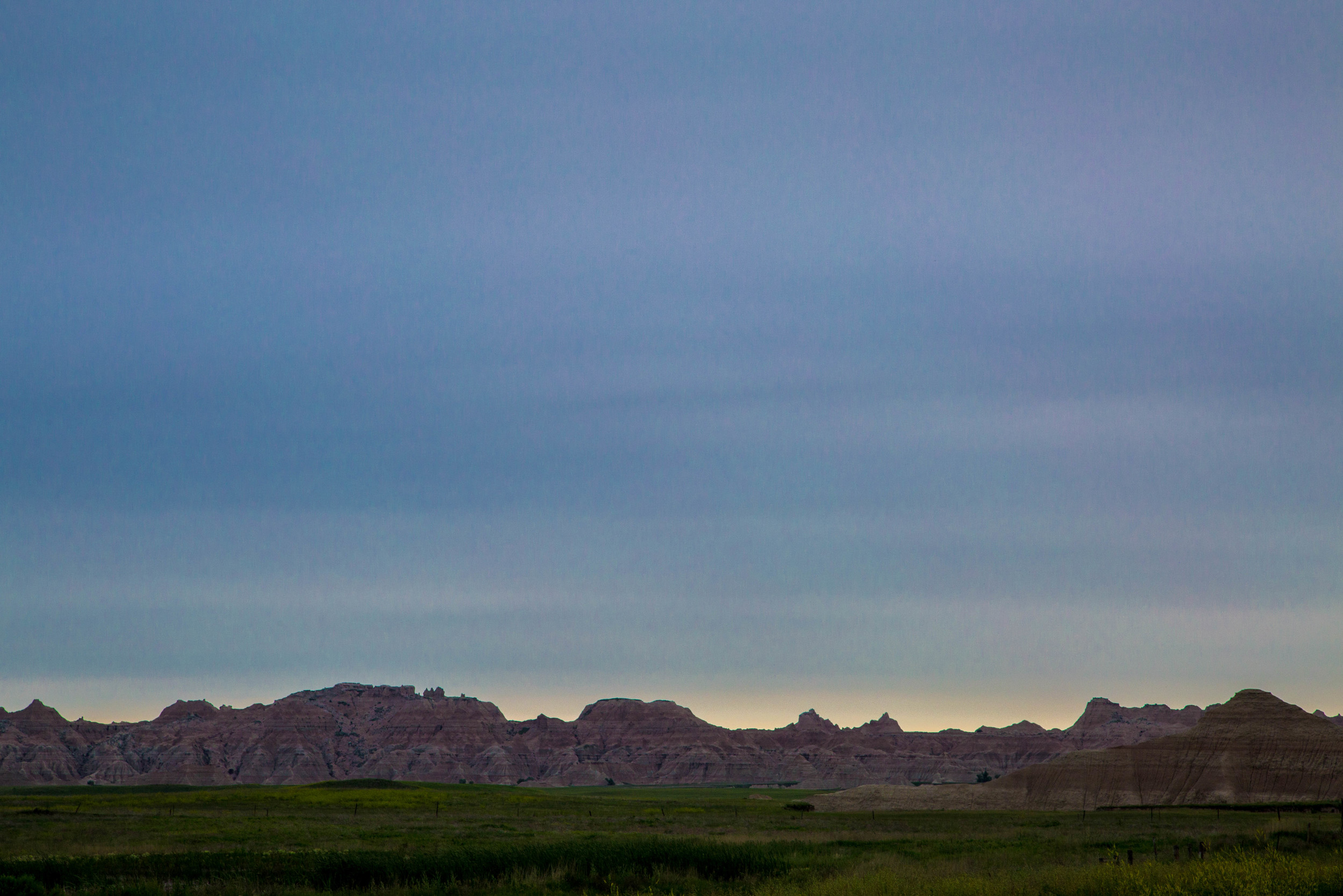 Badlands in the morning