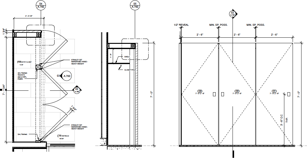 Entry Closet Detail Drawings