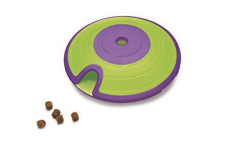 Treat Maze - An easier puzzle toy designed for pups who prefer to use muscle by Nina Ottosson.