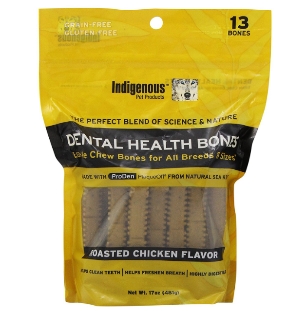 Indigenous Dental Health Bones for Dogs - These highly digestible chews and safe, healthy, and clean your pup's teeth! For smaller dogs, simply break it in half!