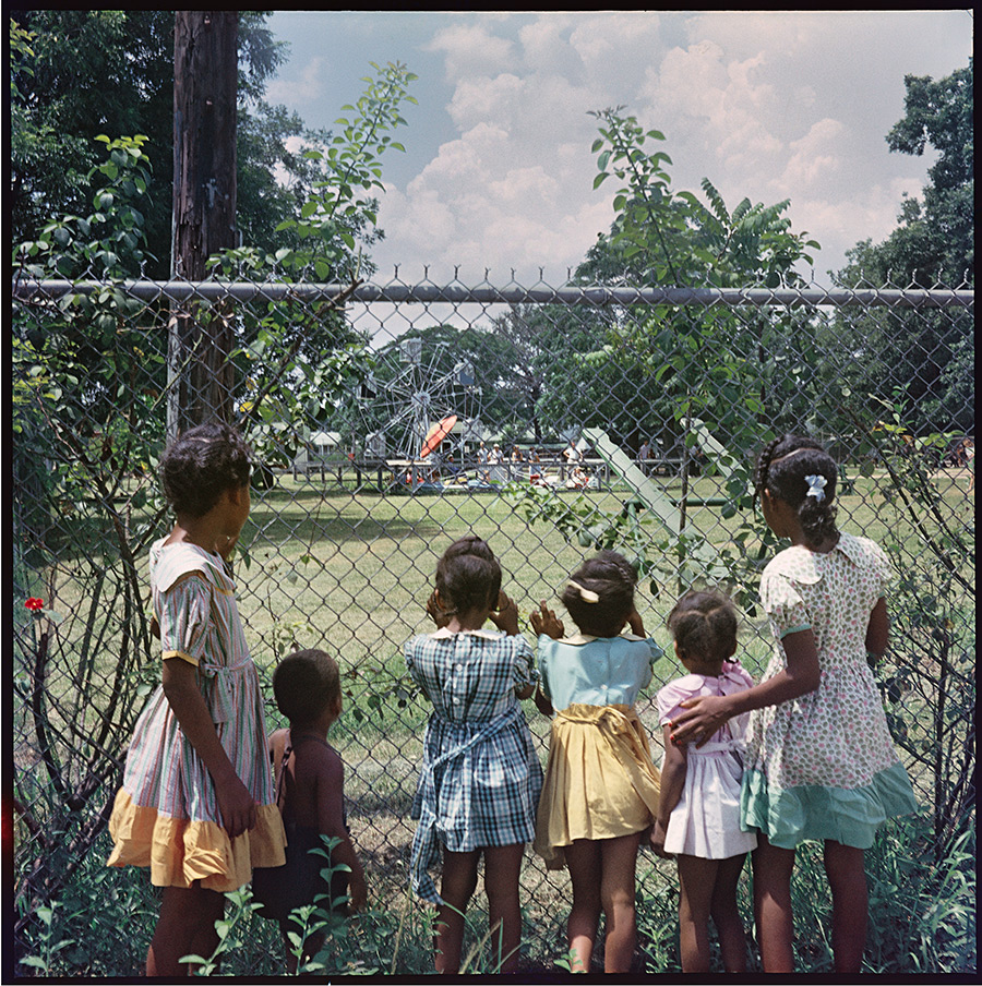 Outside Looking In, Mobile, Alabama, 1956. Photograph 37.008 by Gordon Parks. Copyright Gordon Parks. This image is reposted on a blog from  here.