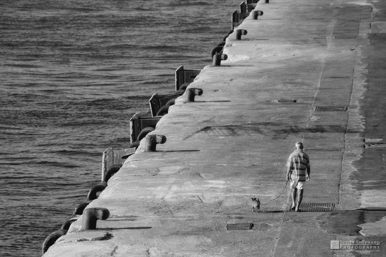 Man Walking Dog - Dock in Crete.jpg
