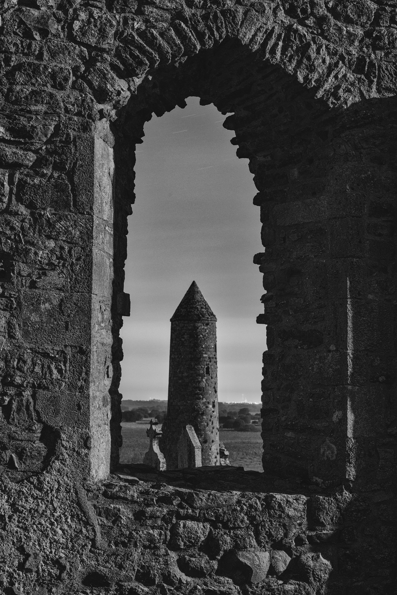 Clonmacnoise Monastery night photography Ireland