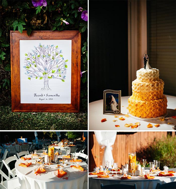 Yorba Linda backyard wedding details