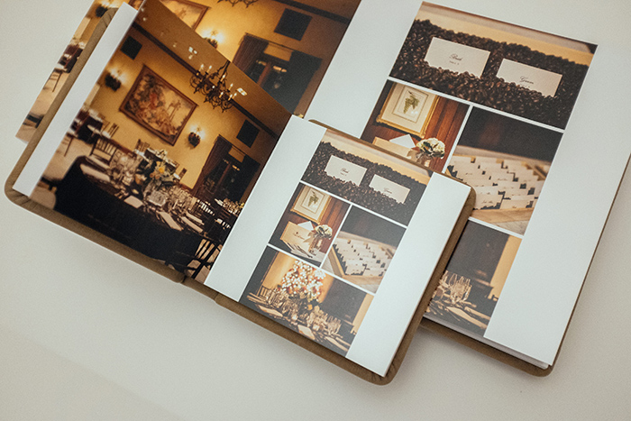 Annie Hall Photography album spread Clos LaChance Winery venue