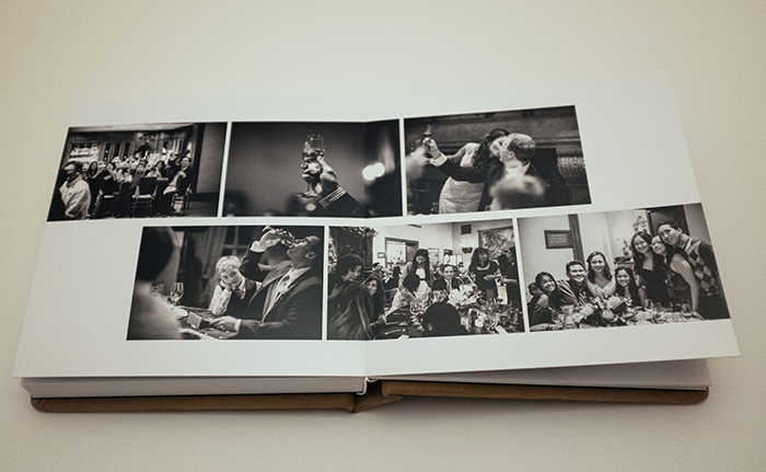 Annie Hall Photography album black and white spread