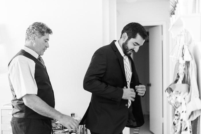Santa Barbara groom getting ready