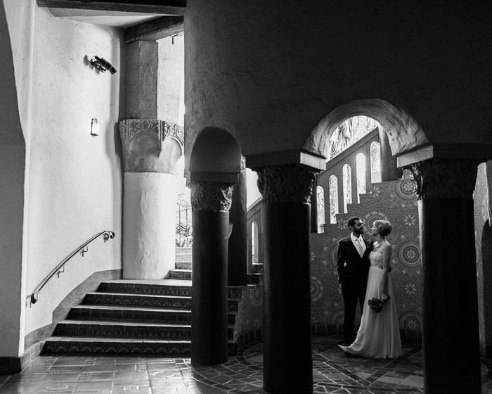 Santa Barbara Courthouse wedding portraits
