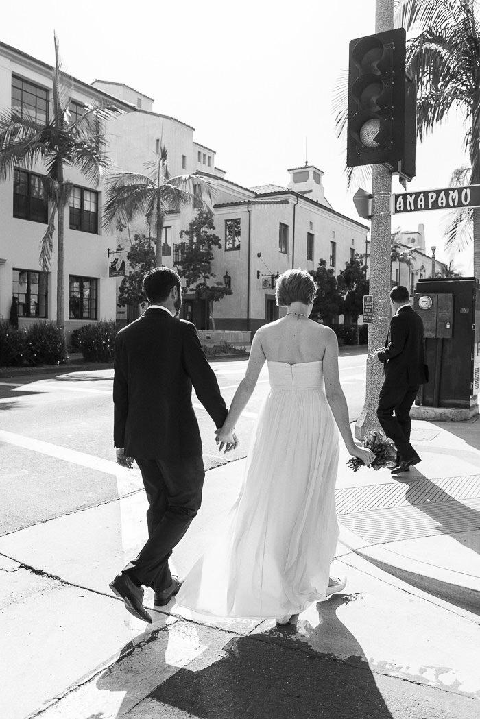 Santa Barbara wedding State Street walk
