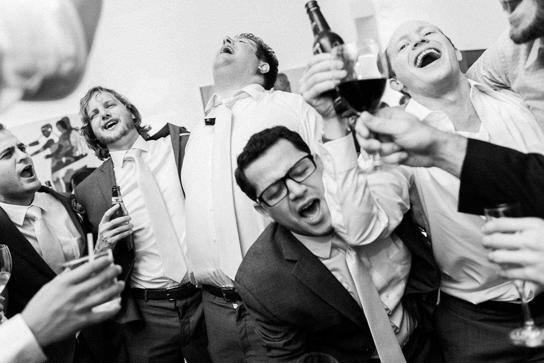 Wedding reception crazy dancing