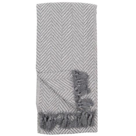 Large Fishbone - White Grey - $40