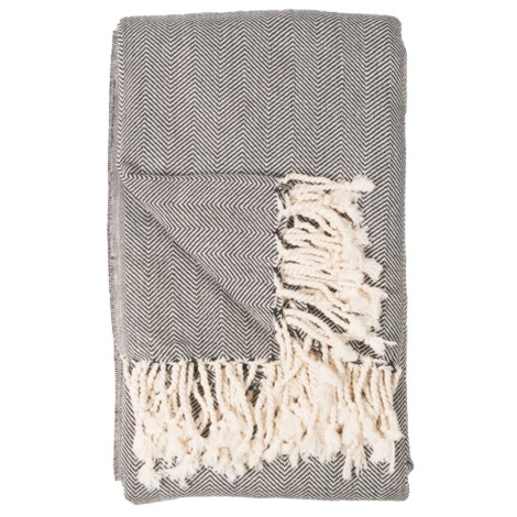 Blanket - Fishbone - Black - $120