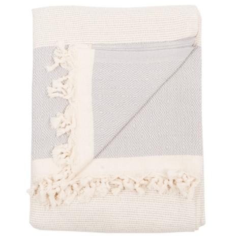 Blanket - Lined Diamond - Mist - $110