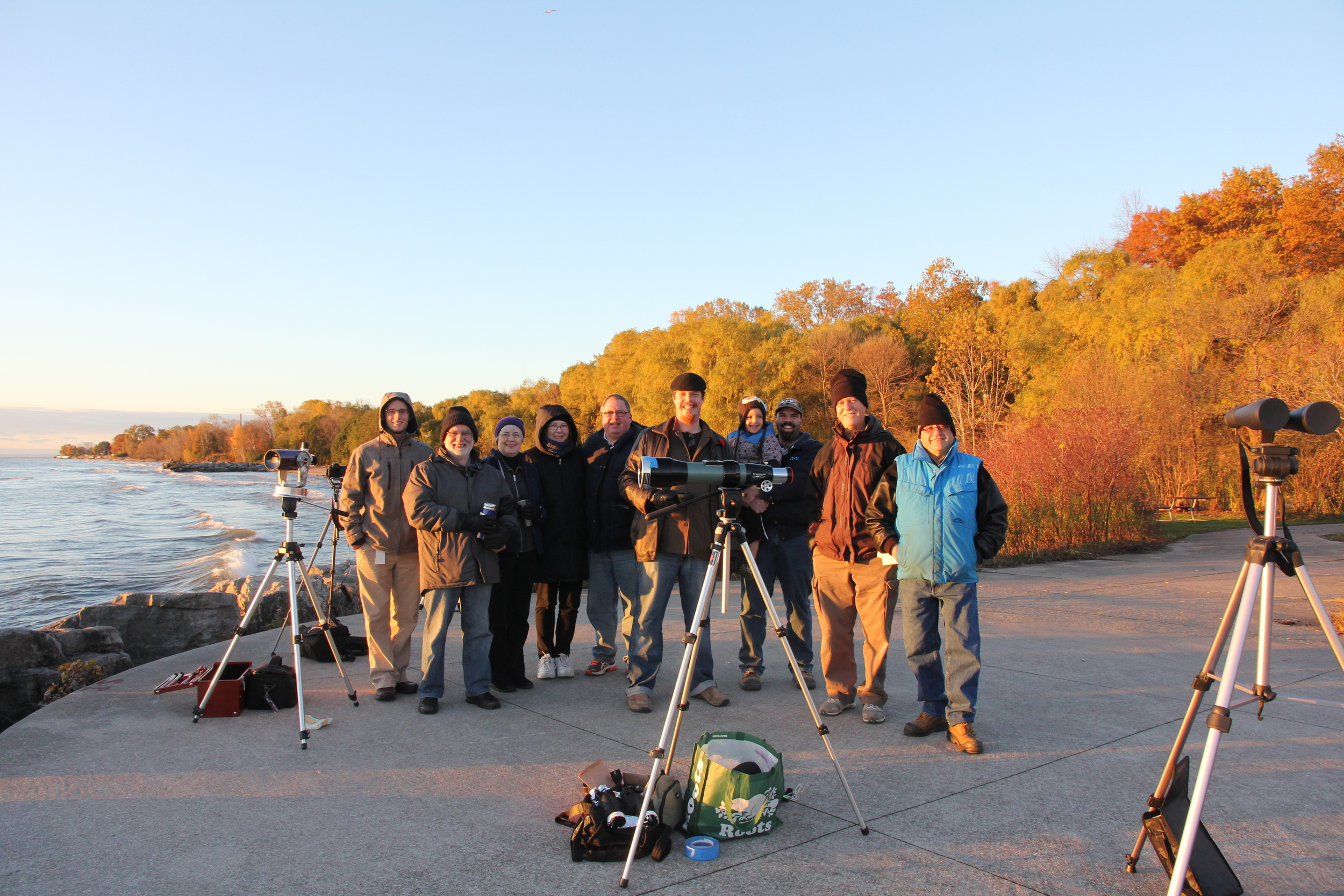 Eclipse success! Members of the Mississauga Centre of the Royal Astronomical Society after observing the partial solar eclipse. Photo by Liz Malicki