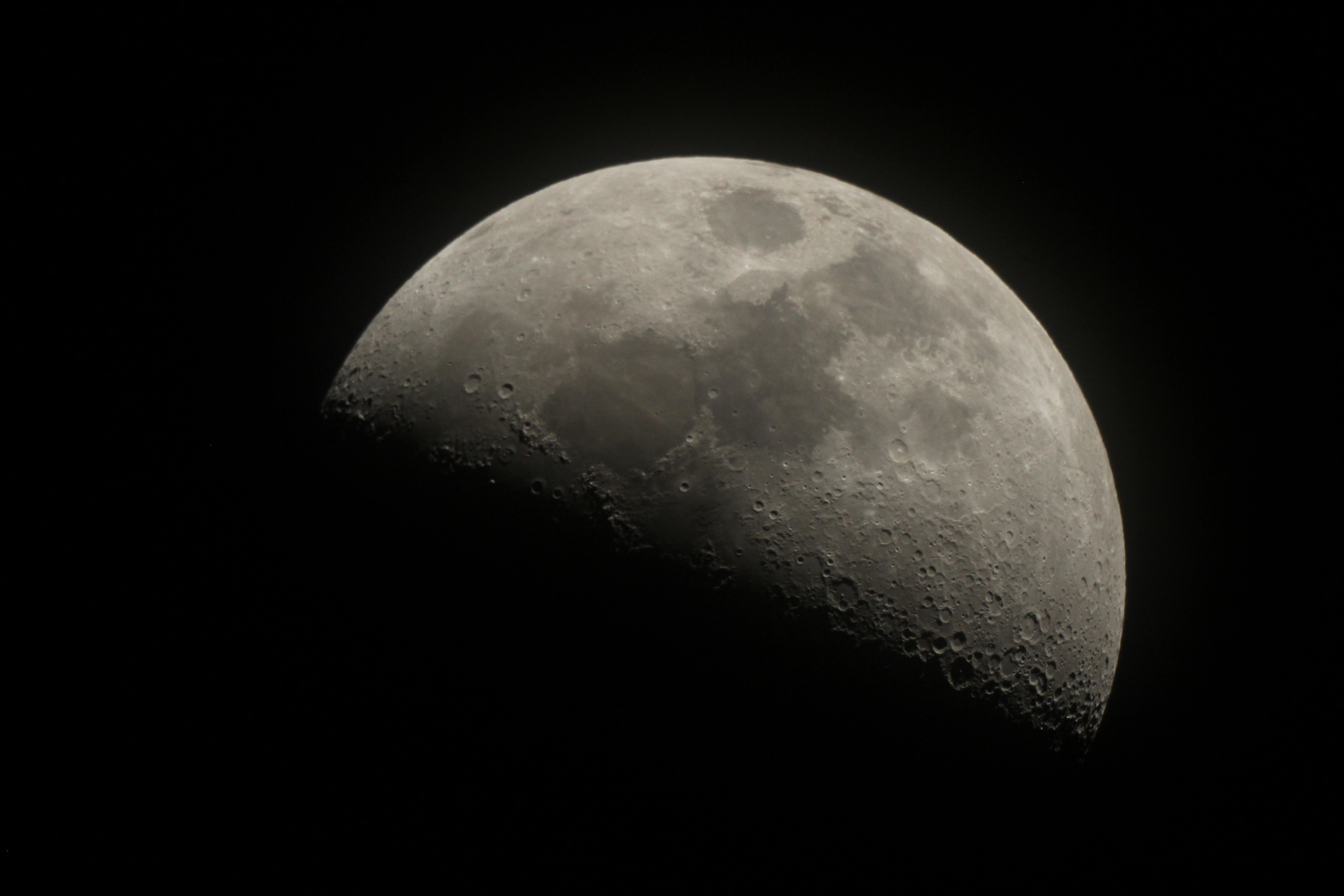 The Moon as seen from Riverwood on May 6, 2014