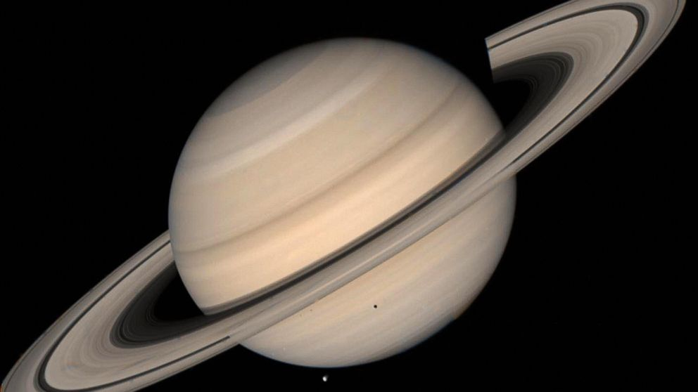 The beautiful rings of Saturn will be visible through large telescopes.