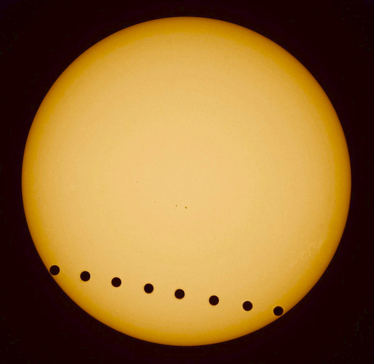 A transit of Venus took place in June 2004 and June 2012.
