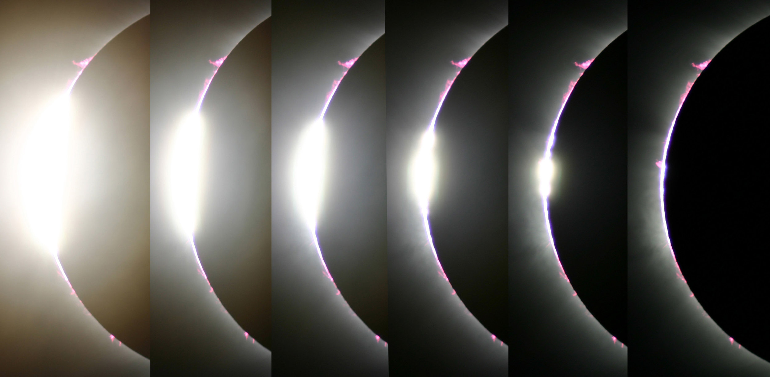 Total Solar Eclipse, Second Contact / Diamond Ring March 2016 Side, Turkey  Photos by Randy Attwood