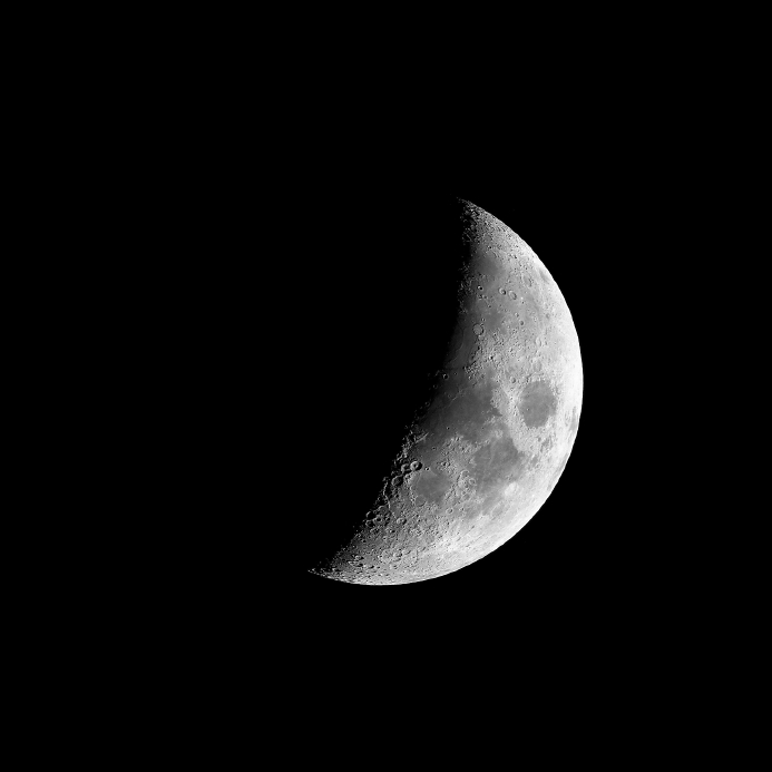 The First Quarter Moon will be visible