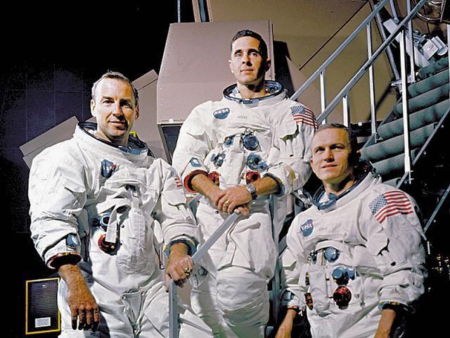 The Apollo 8 crew - James Lovell, William Anders, Frank Borman