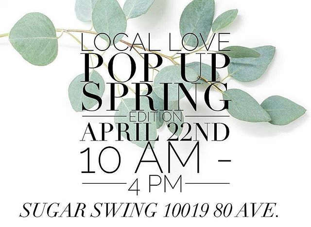 Local Love Spring Pop-Up is happening in 5 days!! Come out and support all the great local vendors! Details @locallovepopup  #shoplocal 📷@locallovepopup