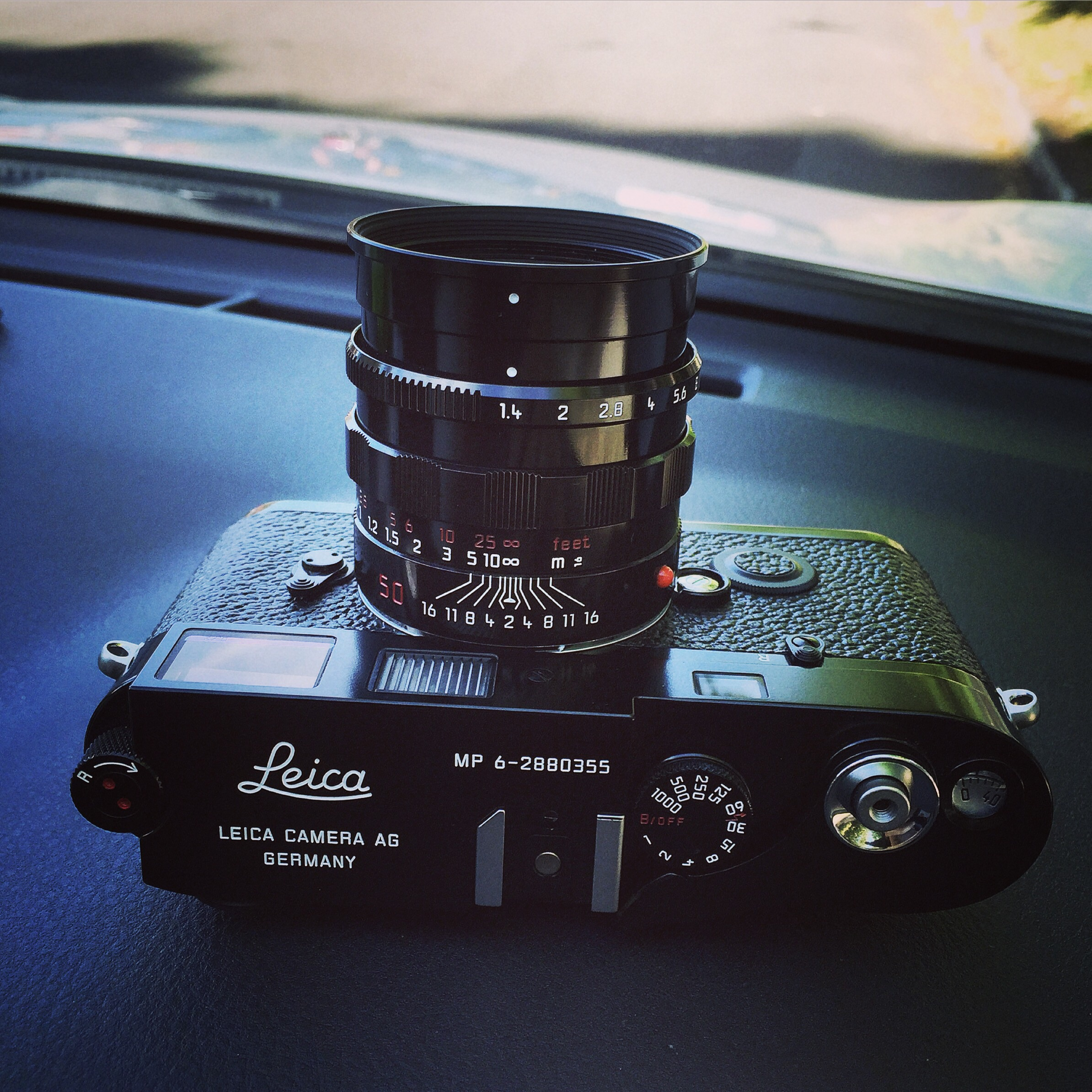 Leica MP-6 with matching Leica 50mm F1.4 Summilux in Black Paint.