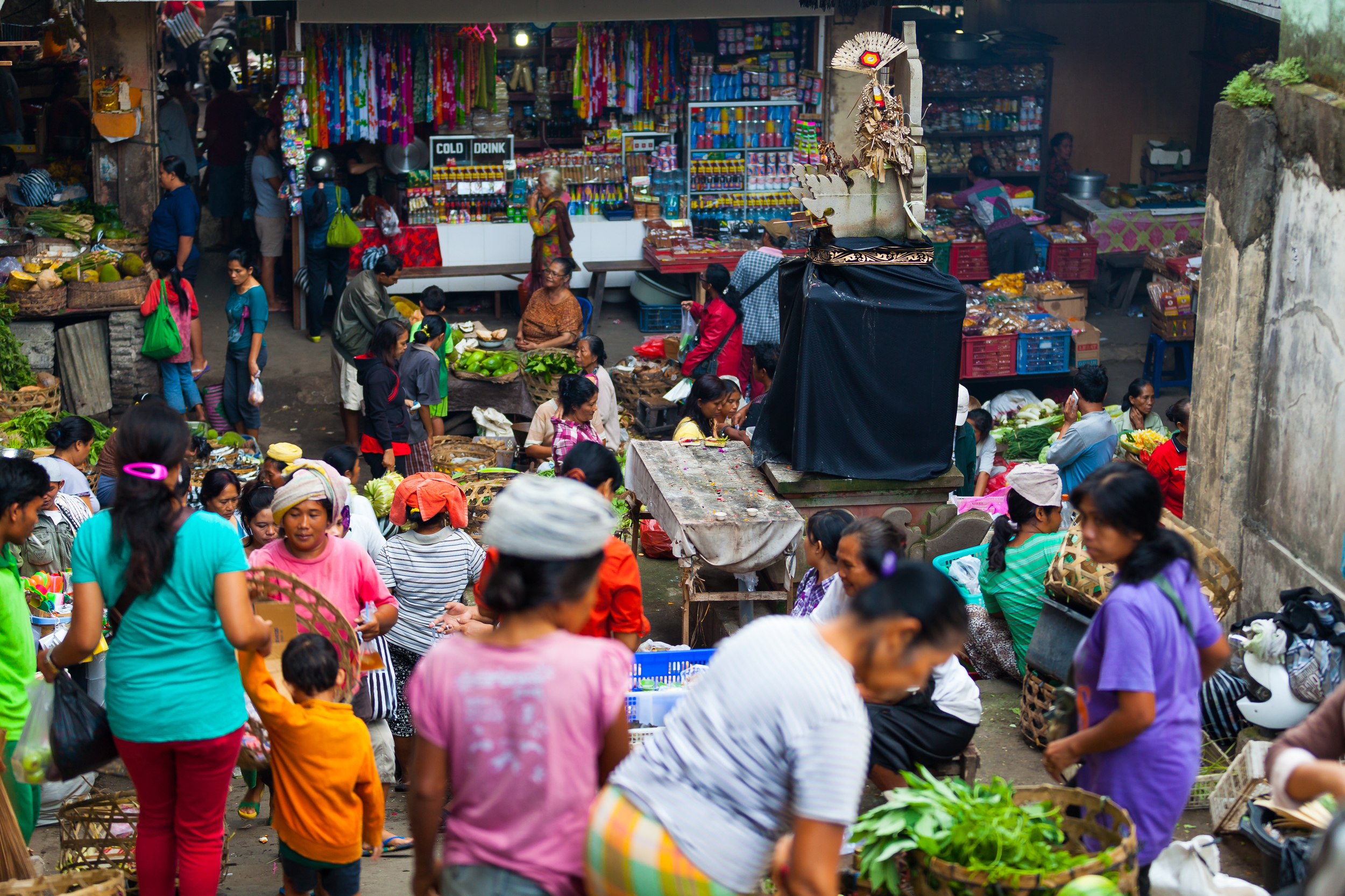 The Colours of the Ubud market