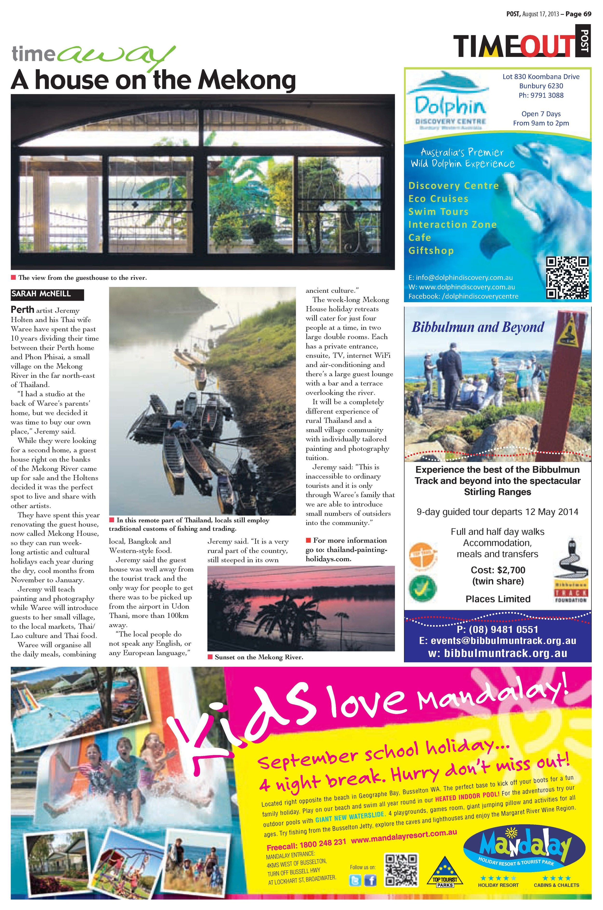 A review of Thailand Painting Holiday in the Timeout Magazine