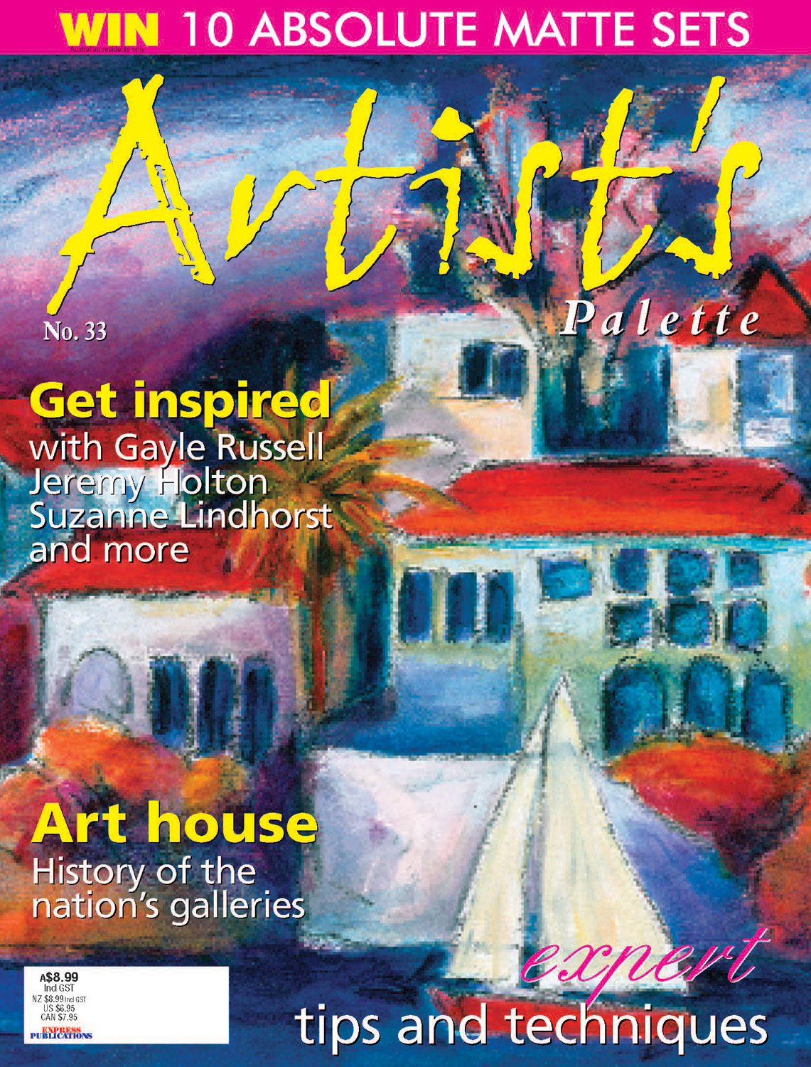 Jeremy's oil pastel technique is described in detail in this edition of Artist's Palette.   Click to read it