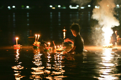 The Loi Krathong Festival on Monday 14 November 2016