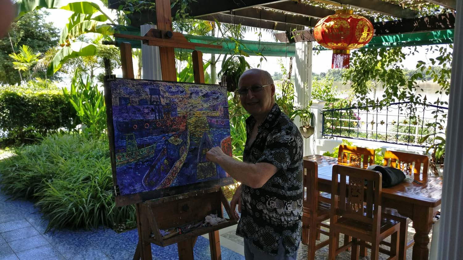 Jack came from Ireland to stay with Thailand Painting Holidays.  He wanted to loosen up, become more imaginative and explore new techniques in his painting.  He succeeded brilliantly.  Click to read his review .