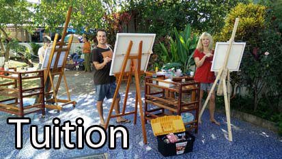Painting tuition workshops oils, pastels and acylics