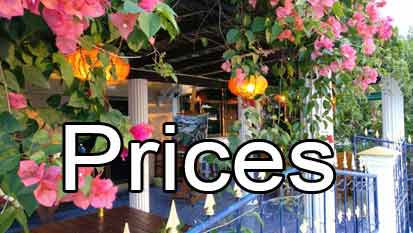 Price list of tariffs to stay at Thailand Painting Holidays guest house