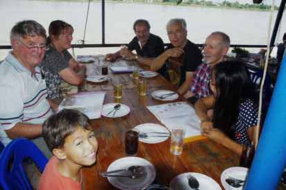 We can arrange a   boat trip up the Mekong River   if you wish.  A meal can be served on the trip.  It is fascinating to see the differences between the river banks on the Thailand side and the Laos side. Click to see more photos
