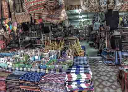 The   Na Ka Silk Market   covers several streets next to a temple on the road between Nong Khai and Udon Thani it is filled with clothing shops