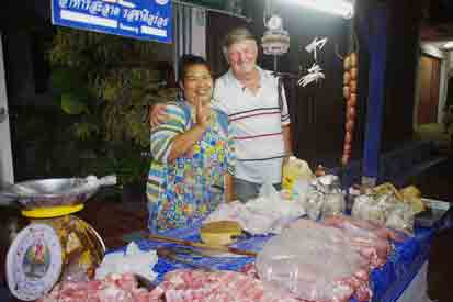 A short walk from our guest house there is the  Night Food Market , with a great variety of stalls selling food for the evening meal.  When we don't have guests we buy most of our food here, it is delicious and incredibly cheap.