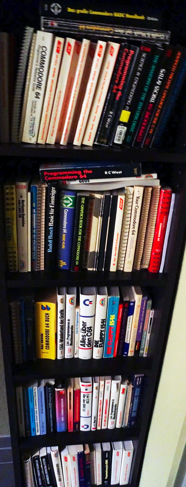 Collection of all sorts of Commodore C64 books