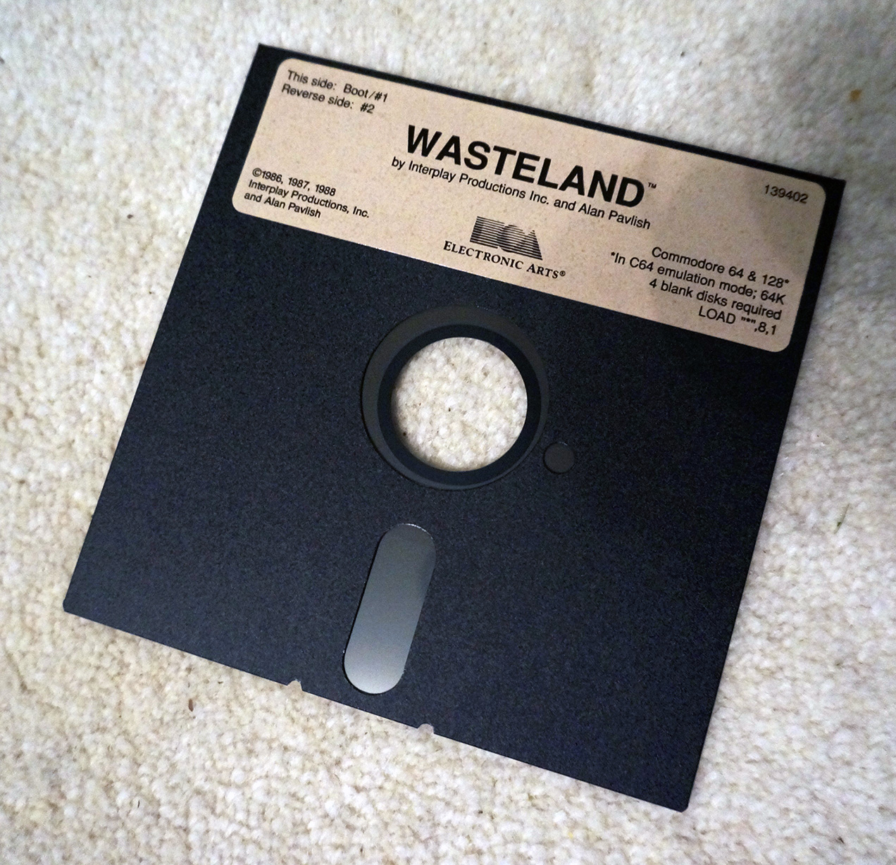 The original C64 Boot-Disk of Wasteland