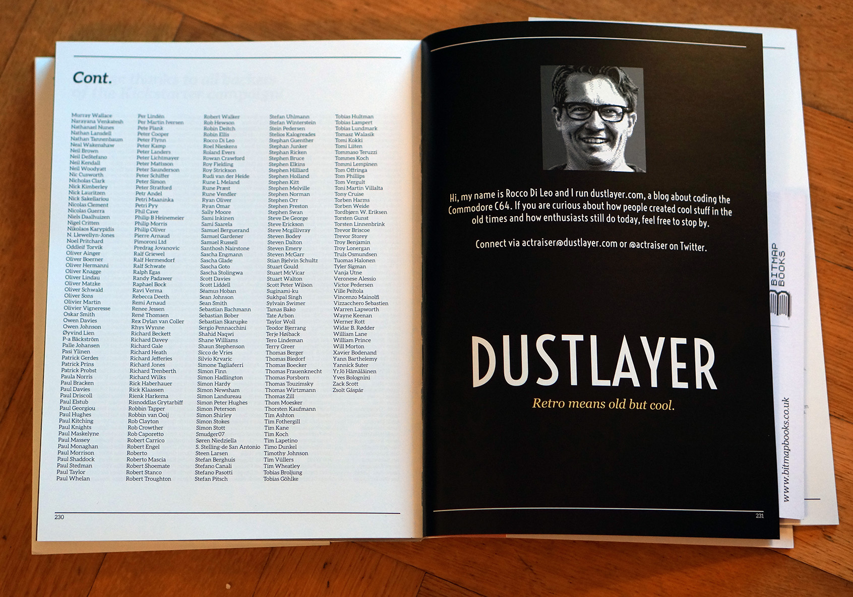 The first printed advertisement for dustlayer.com