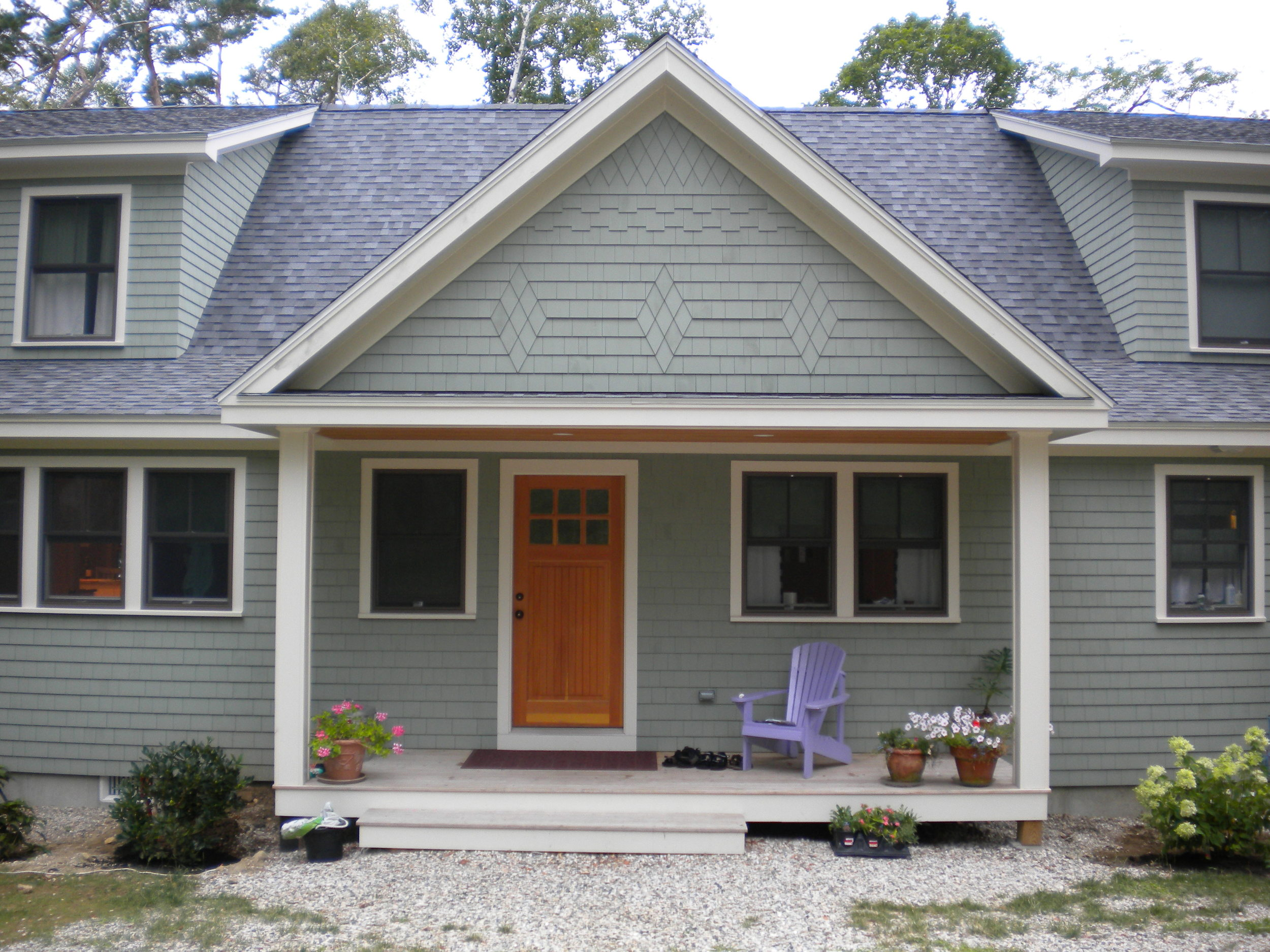 Every home needs a front door. This one is on Great Diamond Island in Maine.