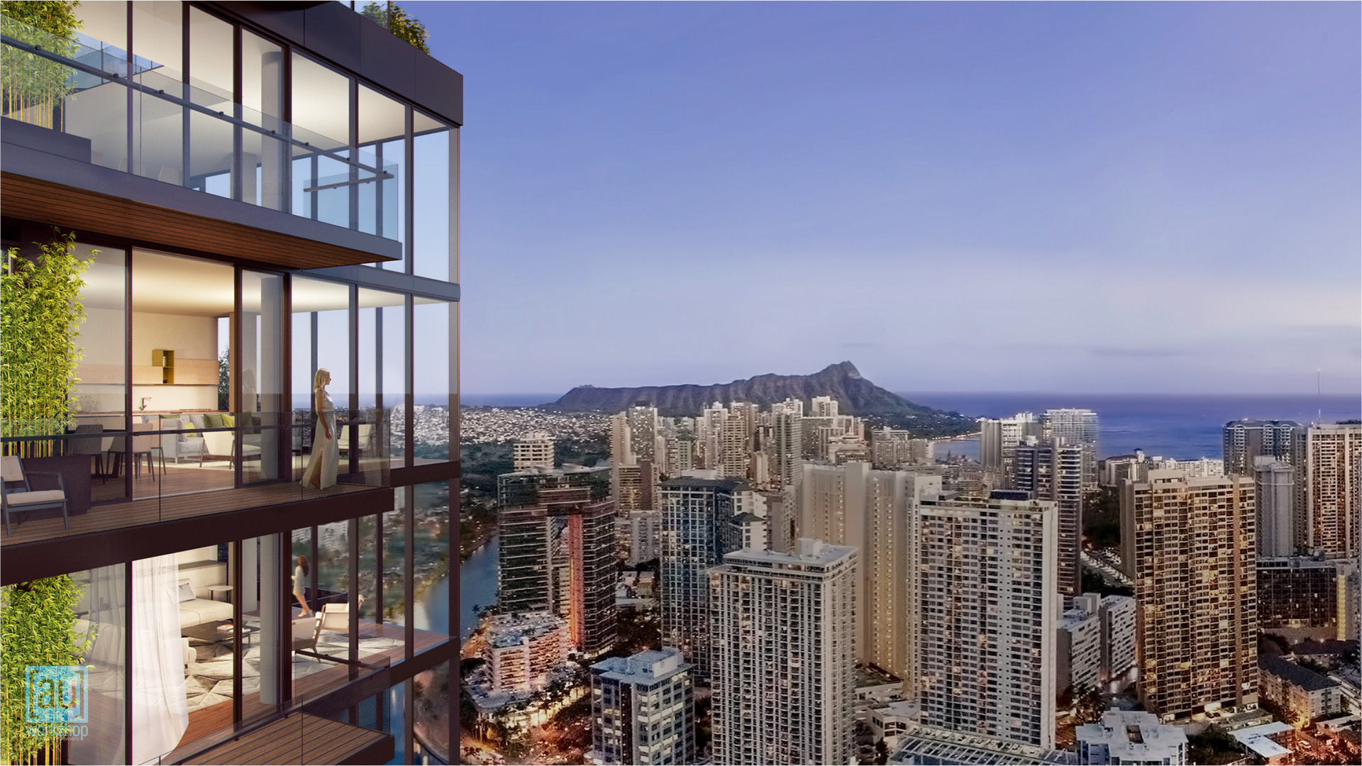 View from Outside the Makai Penthouse