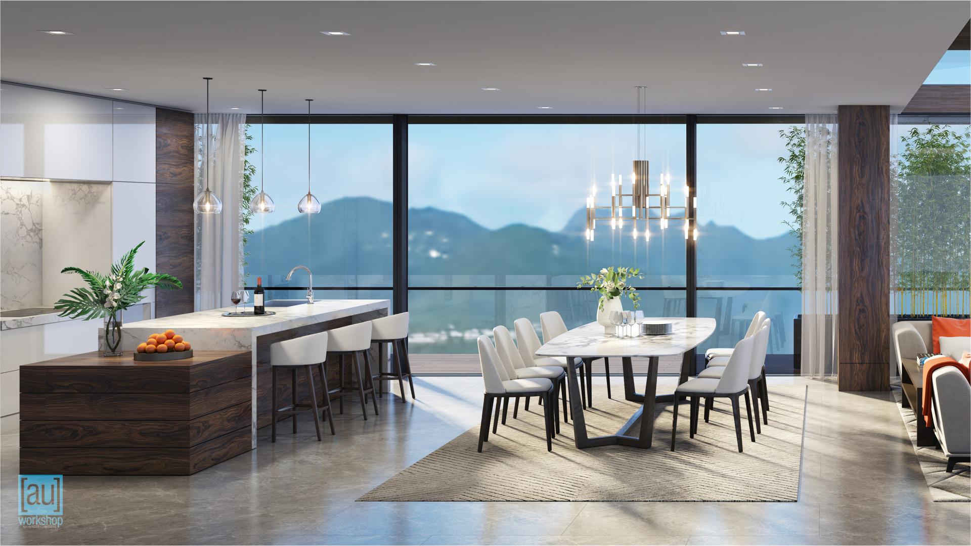 Mauka Penthouse Kitchen