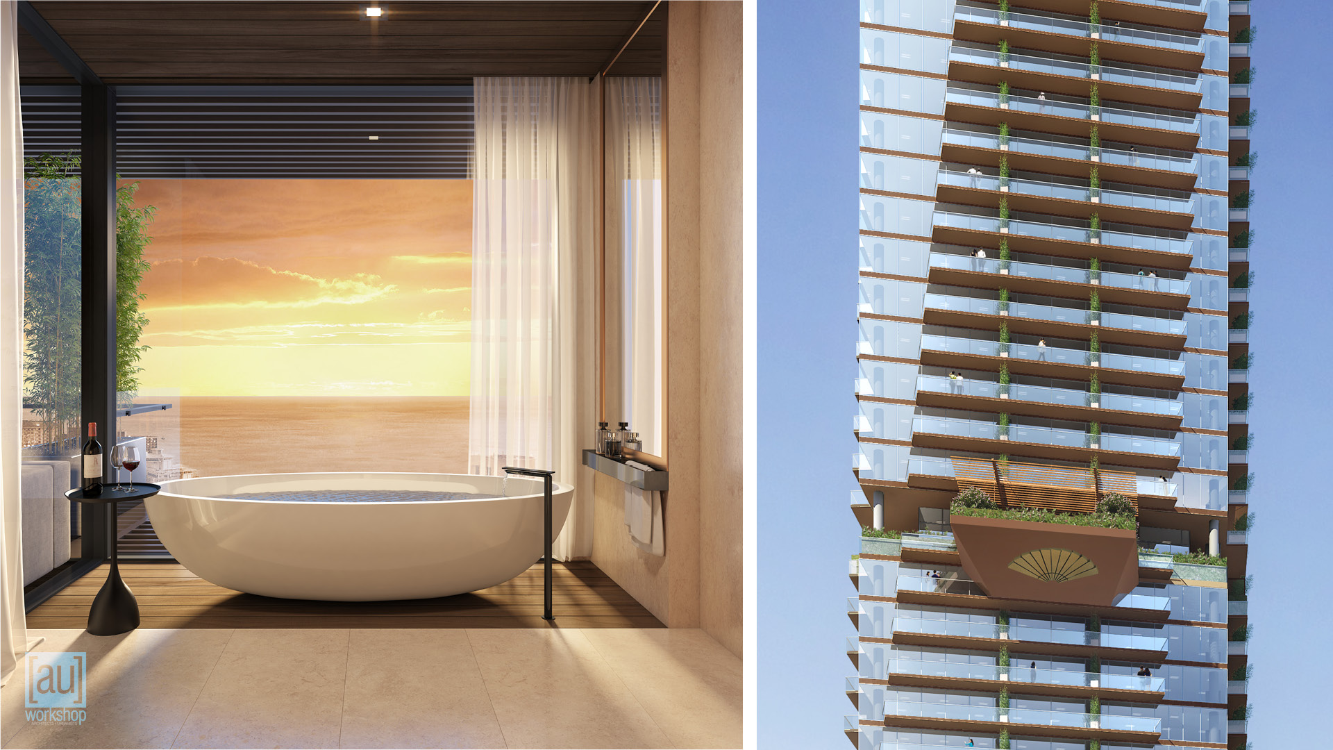 Luxury Guestroom Bath and Makai Facade