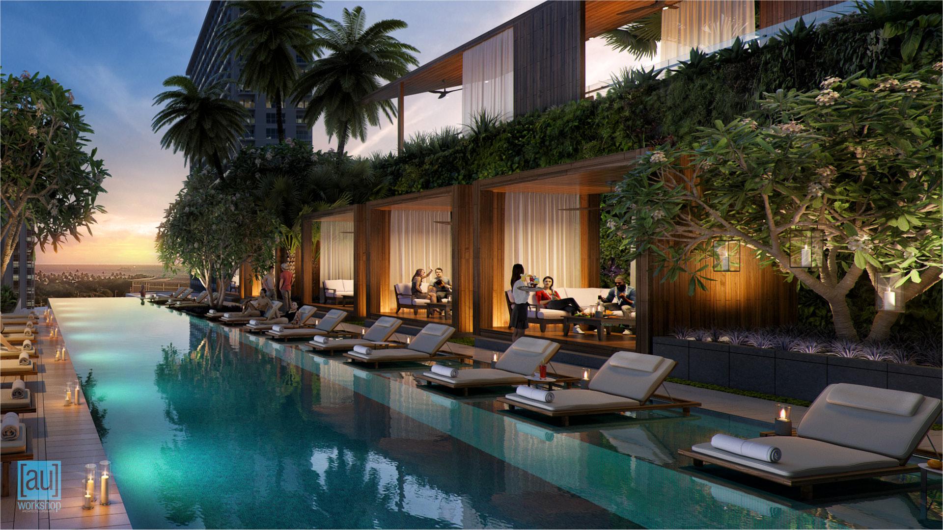 Hotel Pool Cabanas