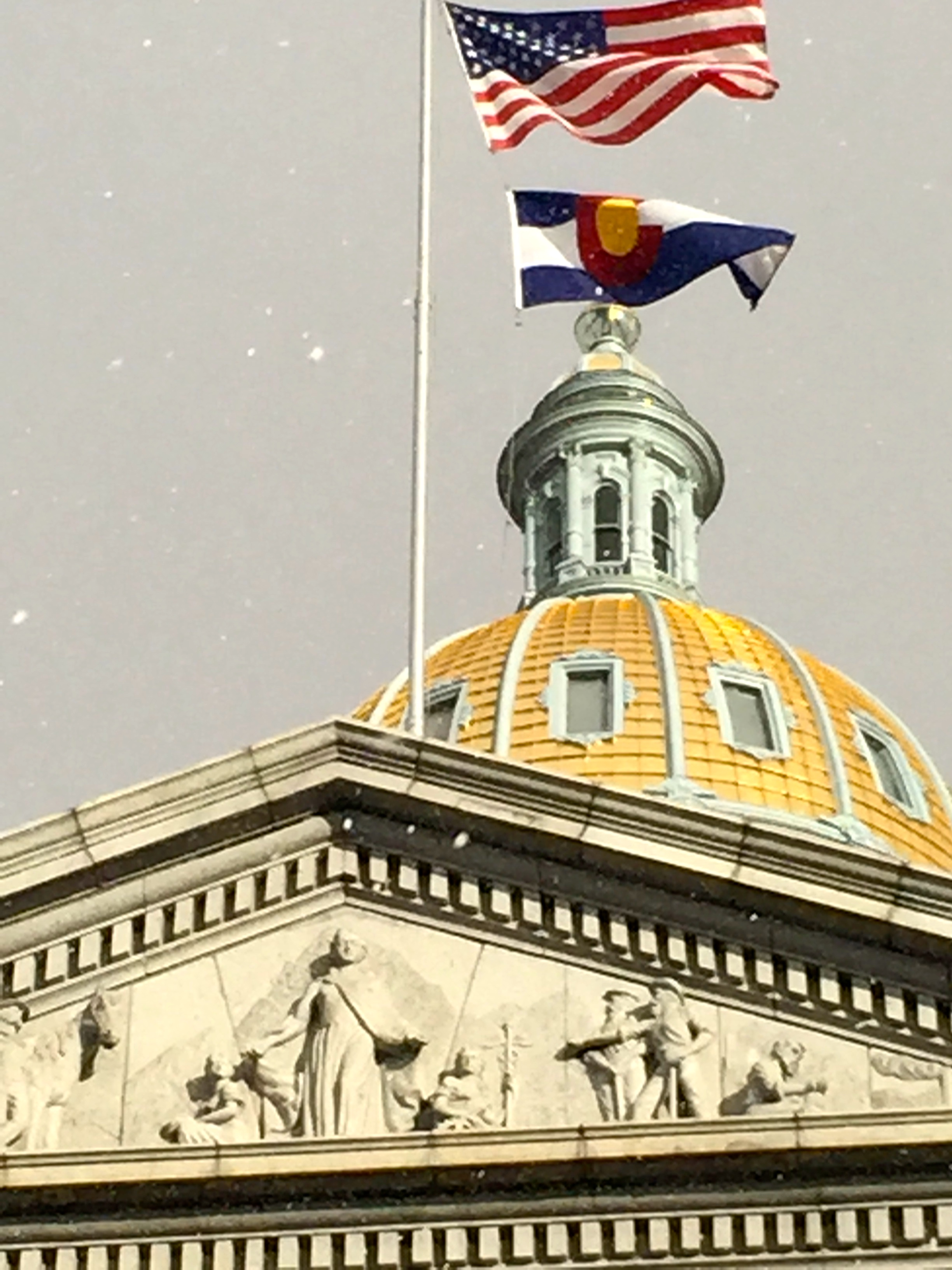 Flags over the golden dome