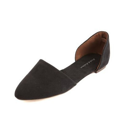 Sueded Pointy-Toe Flat , $22.50