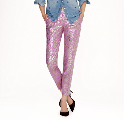 Must have  fancy pants  for fall!! Pink and shiny - this is girly for grownups.
